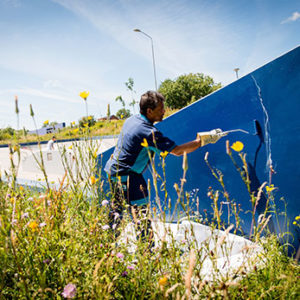 Graffitireiniging | Schoonmaakbedrijf AMC Groep