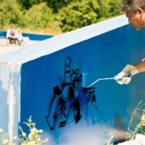 Graffitireiniging | ICS Groep | Schoonmaakbedrijf